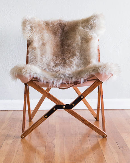 Dollie Natural Beige Brown Sheepskin Chair