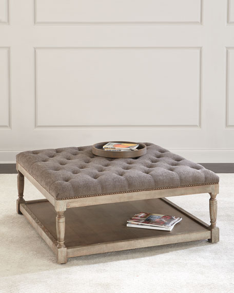 Thoma Tufted Square Ottoman