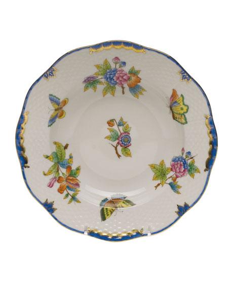 Queen Victoria Blue Rim Soup Bowl