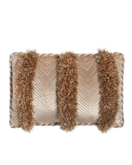 Dian Austin Couture Home Sloane Chevron/Fringe Pillow, 21
