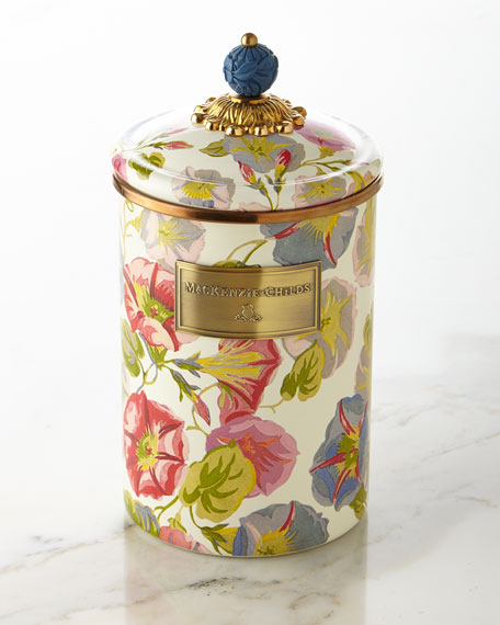 MacKenzie-Childs Large Morning Glory Canister