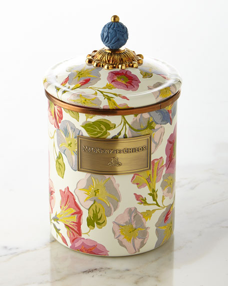 MacKenzie-Childs Medium Morning Glory Canister