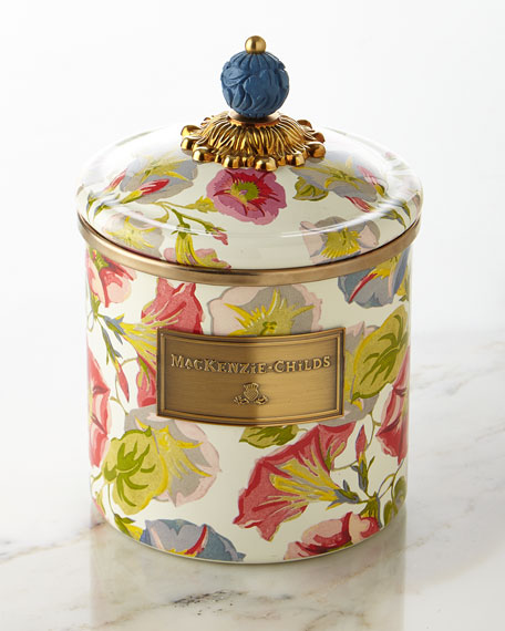 MacKenzie-Childs Small Morning Glory Canister