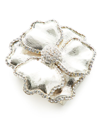 Swarovski® Crystal Flower Napkin Ring, Set of Four, Silver