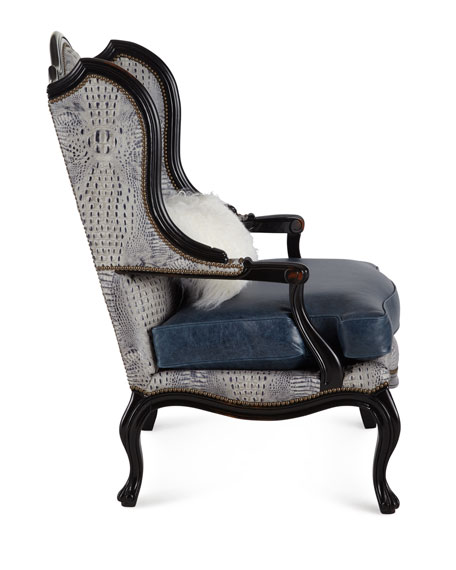 Beth Leather Wingback Chair
