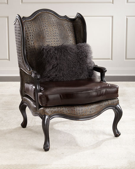 Sarah Leather Wingback Chair