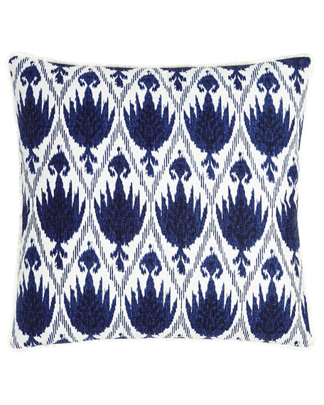 "Casablanca Ikat Pillow, 20""Sq."