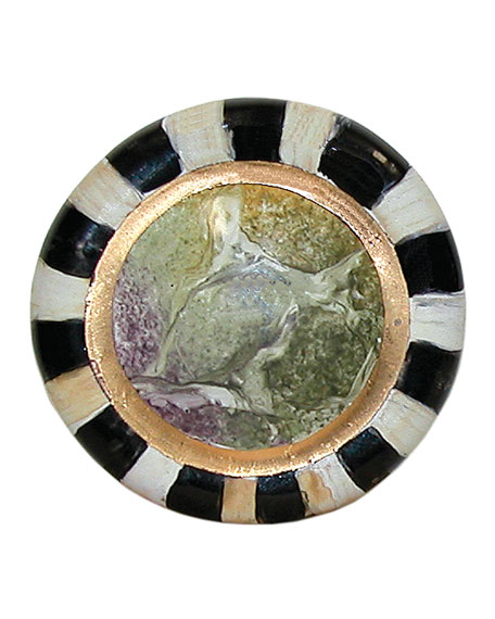 MacKenzie-Childs Cheltenham Round Majolica Decorative Knob