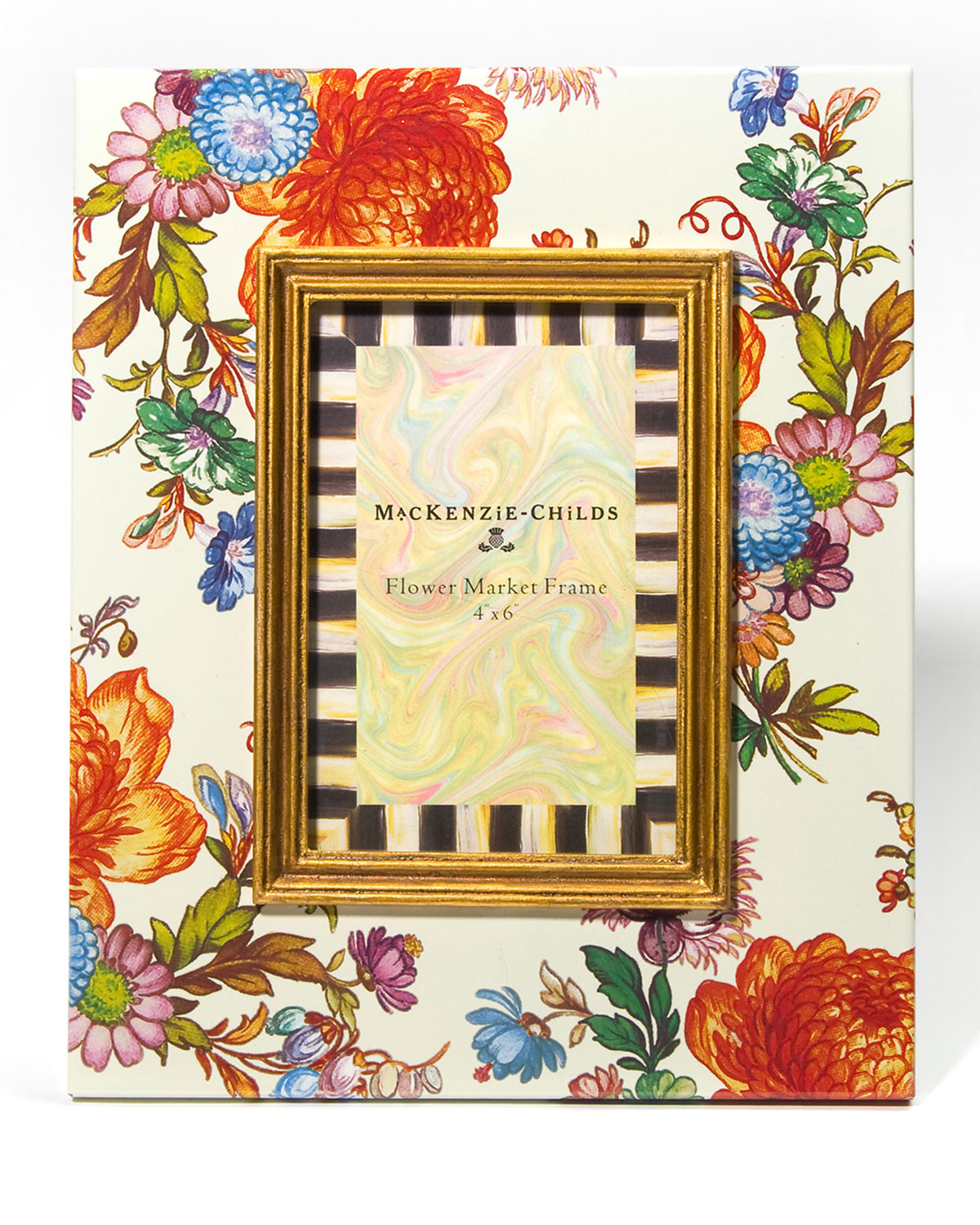 MacKenzie-Childs Flower Market Picture Frame, 4\