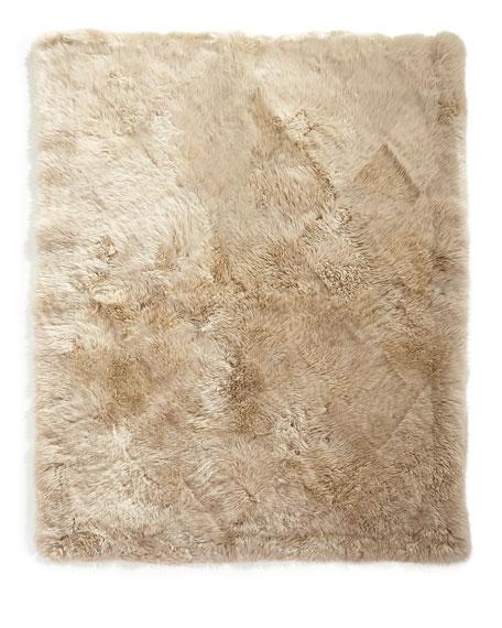Sheepskin Rectangle Rug, 4' x 6'