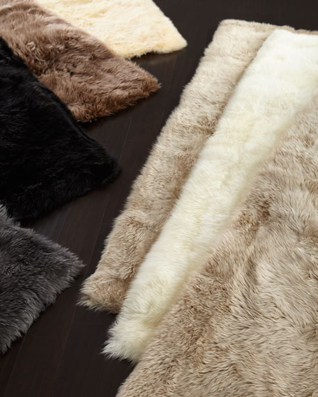 Sheepskin Rectangle Rug, 4' x 6'