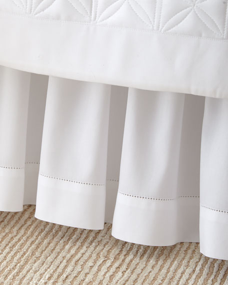 Home Treasures Queen White Sateen Dust Skirt