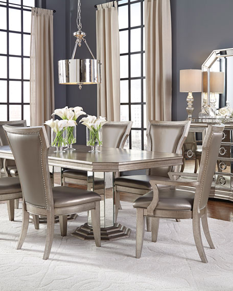 Aria double pedestal dining table neiman marcus for Stores like horchow