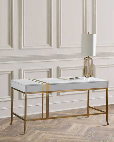 Side Stripe Accent Writing Desk