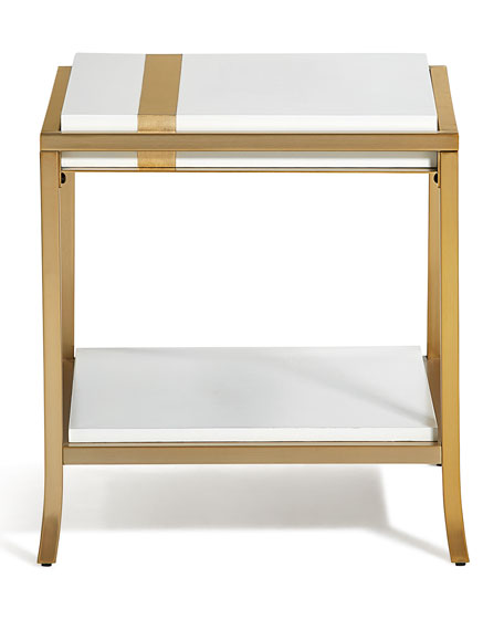 Side Stripe End Table