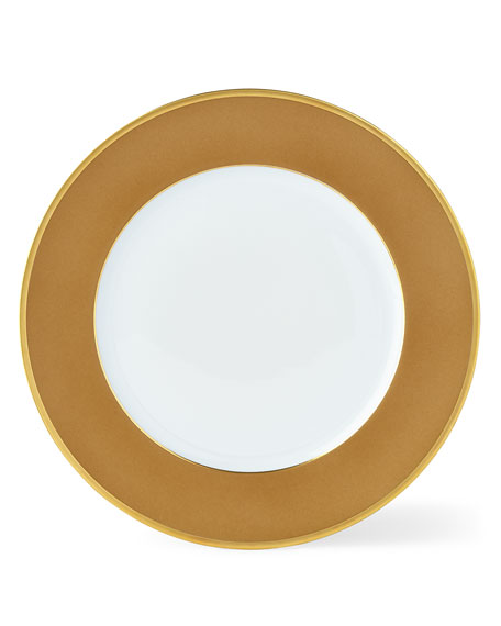 Color Block Bronze/Gold Dessert/Salad Plate