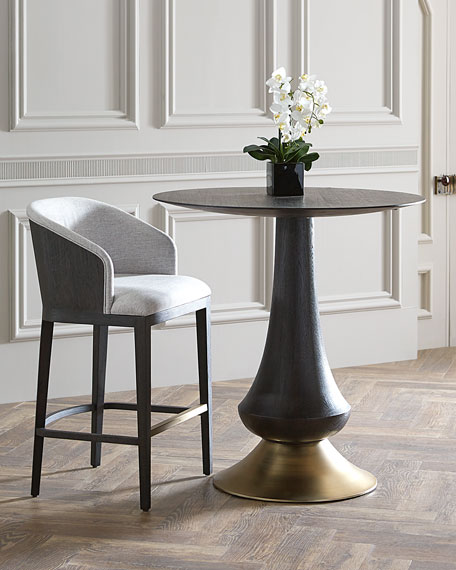 Zaria Pub Table, Brown/Gold