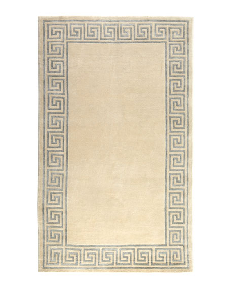 "Greek-Key Border Rug, 8'6"" x 11'6"""