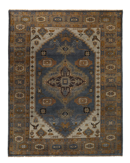 Michener Blue Rug, 10' x 14'