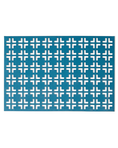 Teal/Gray Grid Placemat