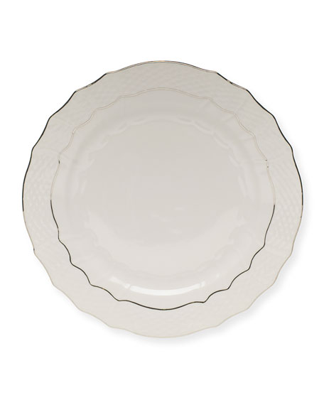 Herend Platinum Edge Charger Plate