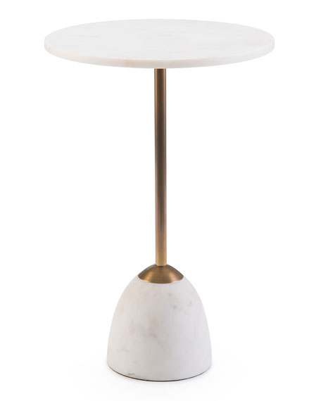 Martini Side Table john-richard collection zeke marble martini side table