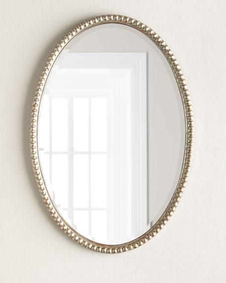 Oval Framed Wall Mirror