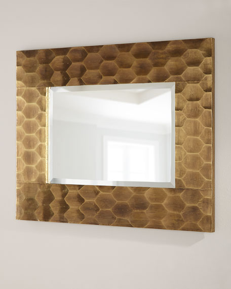 Brass Hexagon Mirror