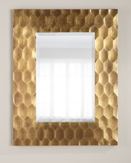 Brass Hexagon Mirror