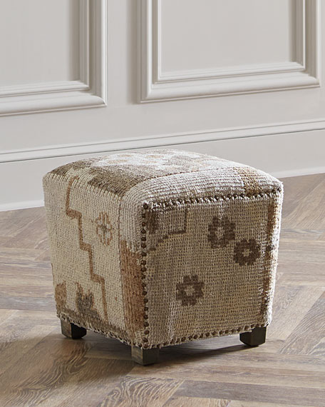 Interlude Home Bernette Square Kilim Ottoman