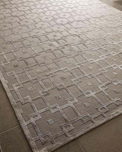 Silver Blocks Rug, 10' x 14'