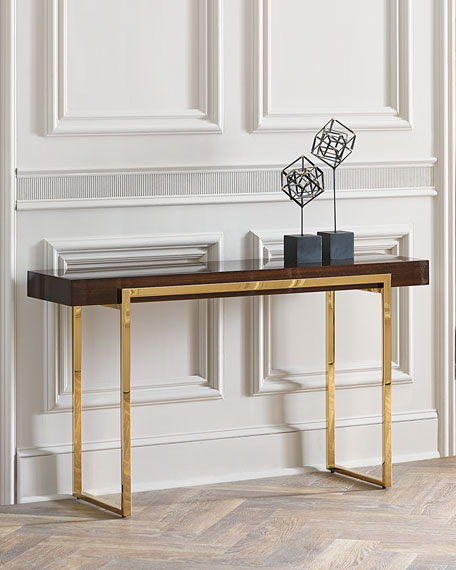 Interlude Home Cronyn Veneer Console Table