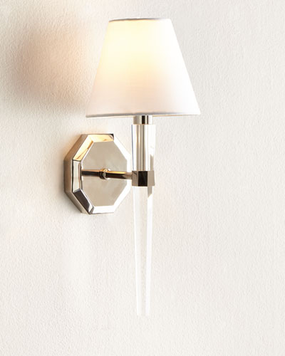 Octagonal Lucite Sconce