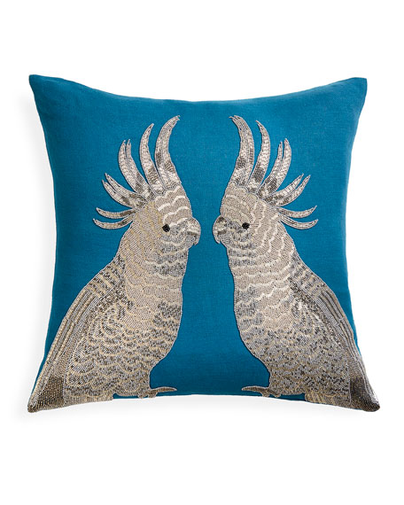 Jonathan Adler Zoology Parrots Pillow