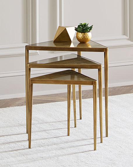 interlude homejanine triangular nesting tables