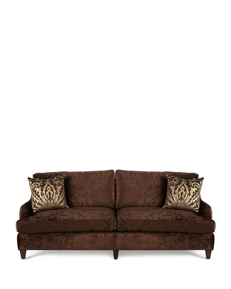 Carla Velvet Sofa, Brown