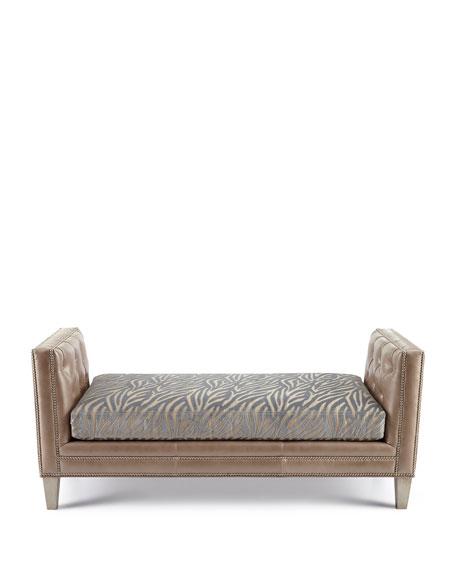 Clive Zebra-Stripe Bench
