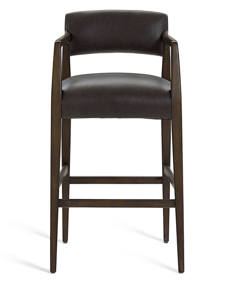 Boris Leather Barstool