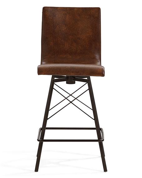 Tiago Leather Counter Stool