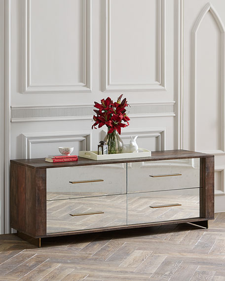 Pratt Four-Drawer Mirrored Dresser