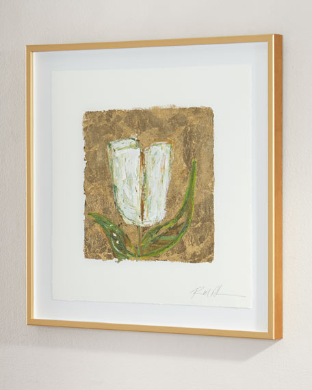 """Gold and Tulips"" Giclee on Paper Wall Art"
