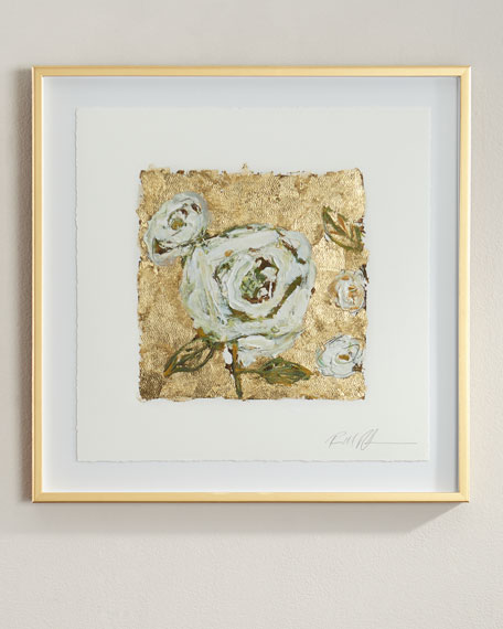 """Gold and Roses"" Giclee on Paper Wall Art"
