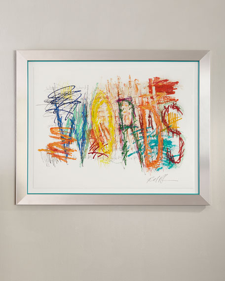 """Mark My Word 4"" Giclee on Paper Wall Art"