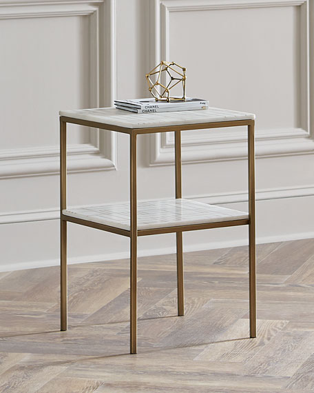 Marble Coffee Table Online: Isaac Marble Side Table