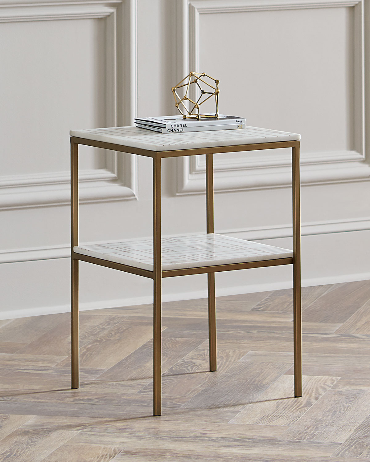 New York Marble Coffee Table: Isaac Marble Side Table