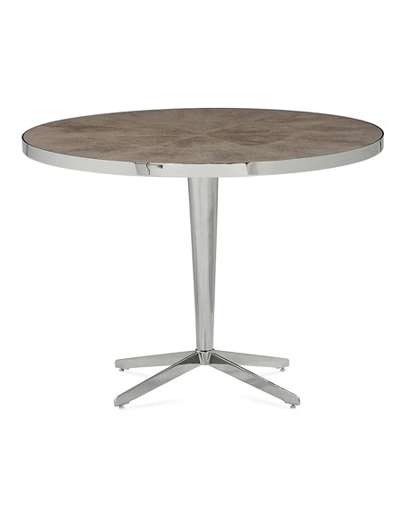 Wyatt Faux-Shagreen Entry Table