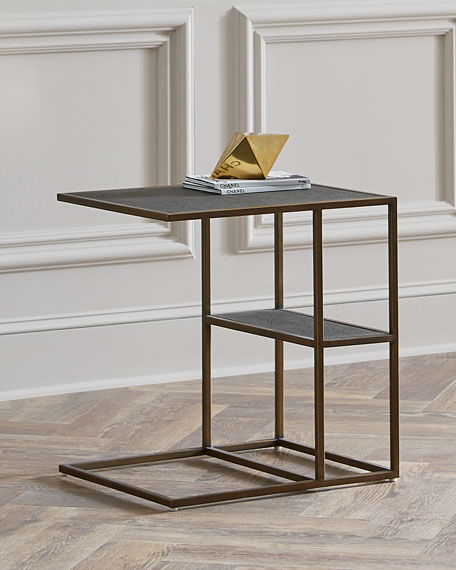Peyton Faux Shagreen Side Table
