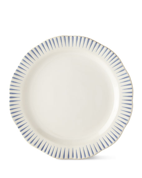 Juliska Wanderlust Stripe Indigo Dinner Plate