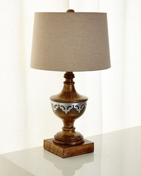 G G Collection Wood Table Lamp