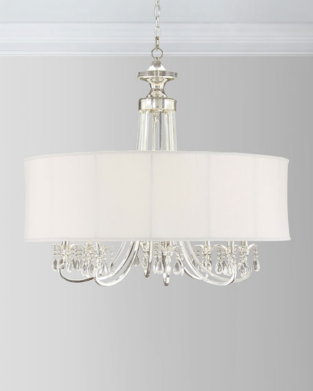 John-Richard Collection Silver-Plated 8-Arm Chandelier